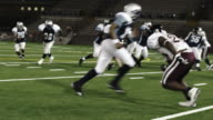 Running back jumps defender video