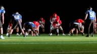 Running back jumps over defense video