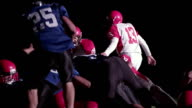 Running back jumps over the lineman into end zone video