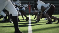 Running back runs ball - time remapped video
