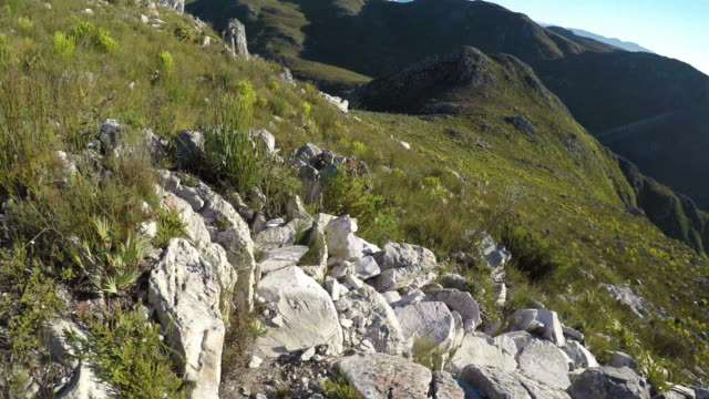 POV - running down a steep mountain trail video