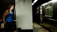 Running for subway train video