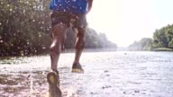 SLO MO Running in a shallow water video