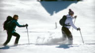 HD: Running In Snow With Snowshoes video