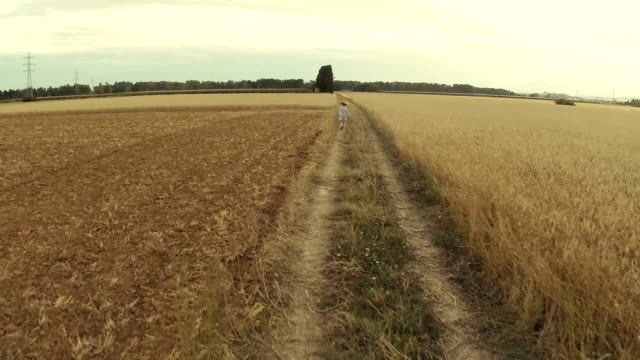 Running in the fields video