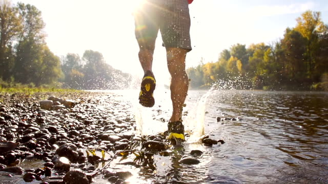 HD SUPER SLOW-MO: Running In The River video
