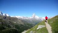 Running near the Matterhorn video
