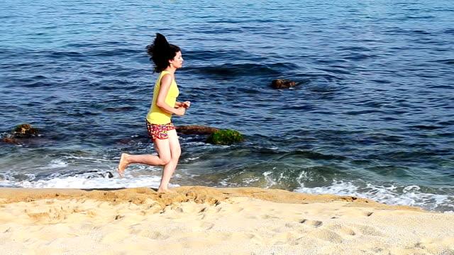 Running on Beach video