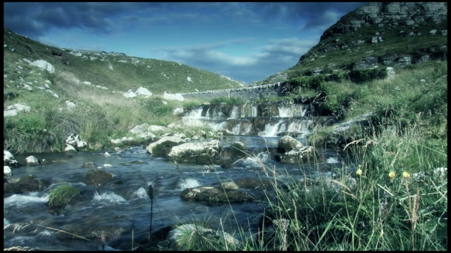 Running River in Rocky Natural Landscape video