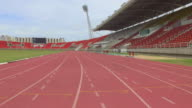 Running track with lanes,Camera Stabilization Shot video