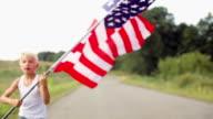 running with a flag video
