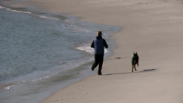Running with Dog video