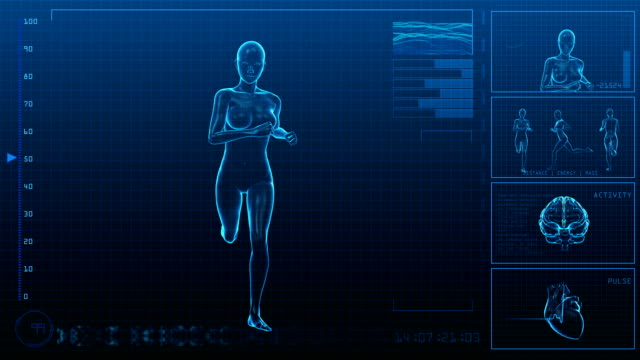 Running Woman | Digital Interface | Loopable video