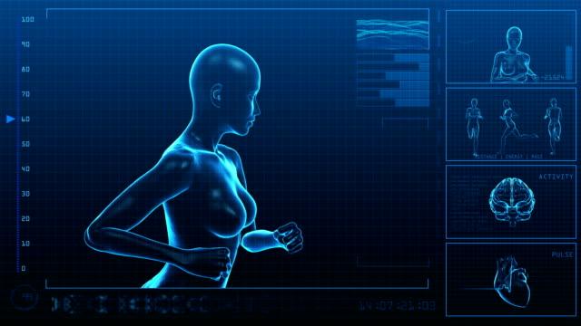 Running Woman | Digital Interface | Loopable video