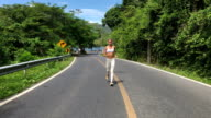 Running Woman Jogging During Outdoor Workout video