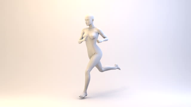 3D Running Woman | Loopable video
