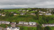 rural houses by the sea in Ireland video