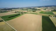Rural landscape aerial shot video