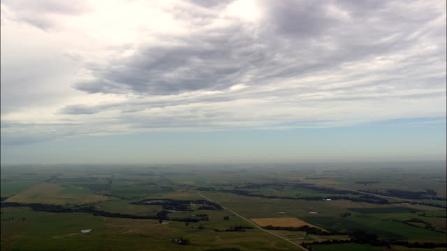 Rural landscape - Aerial View - South Dakota, Roberts County, United States video