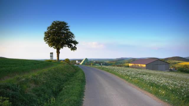 CRANE DOWN: Rural Scene video