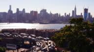Rush Hour Highway Traffic New Jersey New York City 4k video