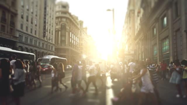 Rush hour in Gran Via, Madrid video