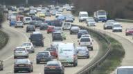 Rush hour Motorway/Highway traffic - evening video