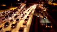 Rush hour night Traffic on LA - timelapse video