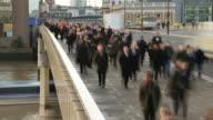 Rush Hour On London Bridge video