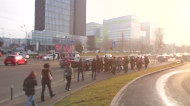 Rush hour scene in modern cities. video