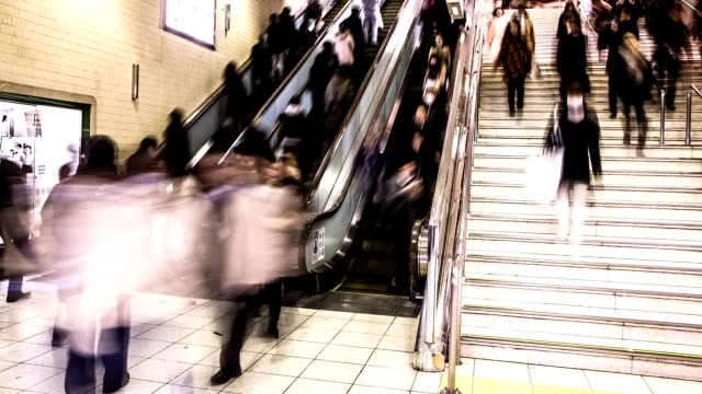 Rush Hour Time-lapse in Tokyo Subway video