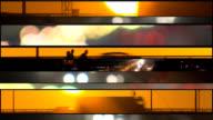Rush hour traffic. Cars speeding background. video