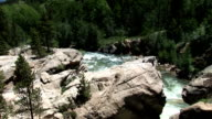 Rushing Mountain River in the Sunshine video