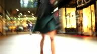 TL POV Rushing Through Luxury Shopping Center video
