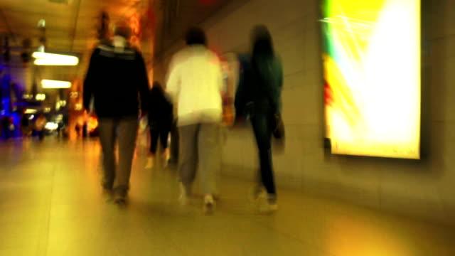 Rushing Through Subway TL POV video