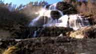 Rushing waterfall video