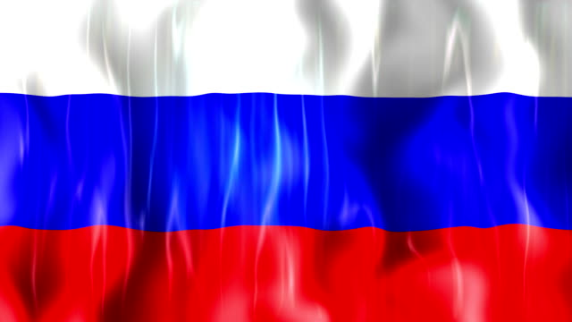 Russia Flag Animation video