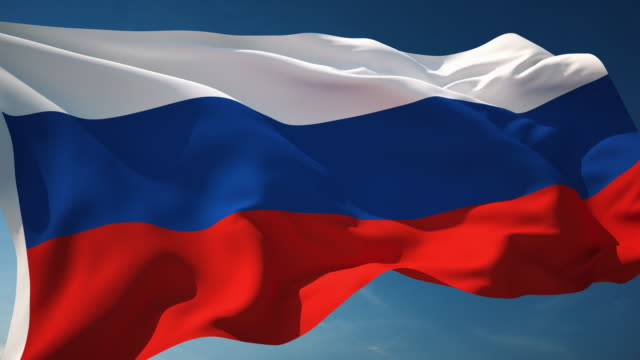 4K Russia Flag - Loopable video