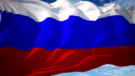 Russia Flag video