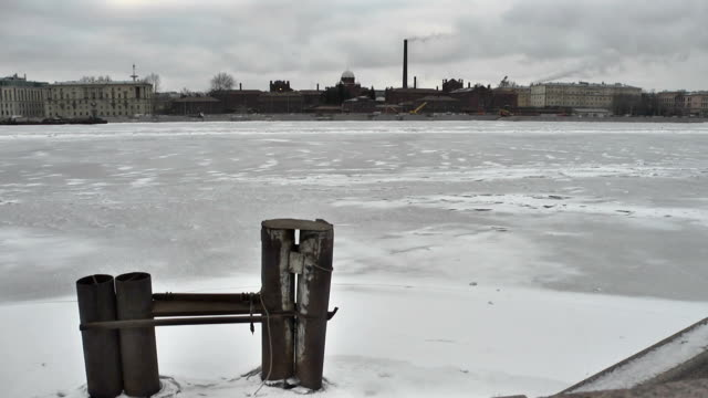 Russia. St. Petersburg. Kresty Prison on the Neva river embankment video