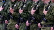 Russian army soldiers in the ranks video