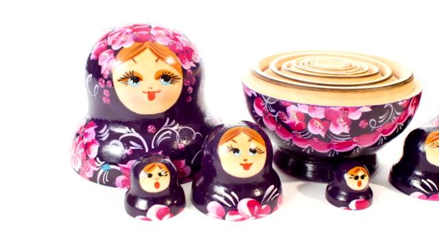 Russian beautiful Matryoshka dolls video