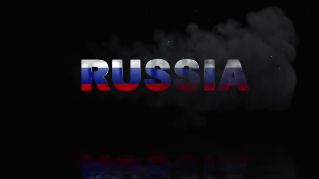 Russian Flag On Title is Revealing with Fire video