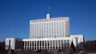 Russian government and embankment establishing shot, Moscow. FullHD sunny day video video
