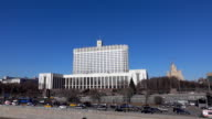 Russian government White house establishing shot. Moscow. FullHD sunny day footage video