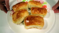 Russian pies on a plate video