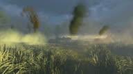 Russian Tank T 34 crosses the battlefield video