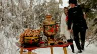 Russian winter picnic video