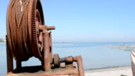Rusted Fishing Boat Windlass video