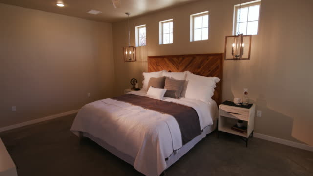 Rustic Industrial Bedroom Lowering Right Angle from Ceiling video